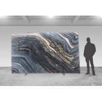 Silver Brown Wave - poliert